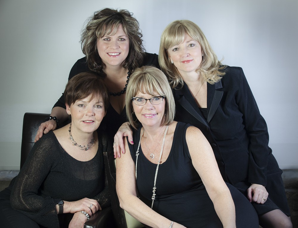 From left: Heather, Charmaine, Alicia and Kathy: Stylists and Hair Replacements Specialists